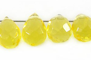 Syn.Golden Cit GlassFaceted Briolet wholesale gemstones