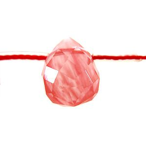 Syn.cherry qtz. faceted briolette 6x8mm wholesale gemstones