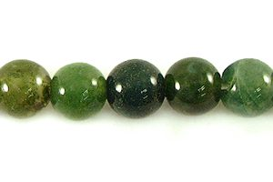 Agate green moss round beads 6mm wholesale gemstones