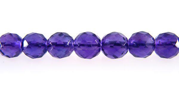 Amethyst faceted round wholesale gemstones