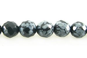 snowflake obsidian round bds faceted 6mm wholesale gemstones