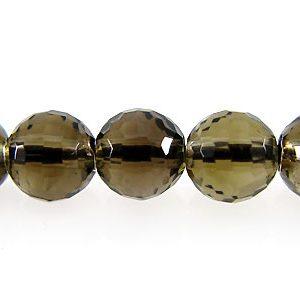 Smoky quartz faceted round 6mm wholesale gemstones
