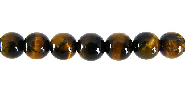 Tiger eye round 6.5mm ~64pcs/str. wholesale gemstones