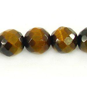 Tiger Eye faceted round 6mm wholesale gemstones
