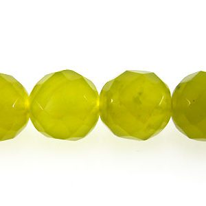 olive jade round beads faceted 8mm wholesale gemstones
