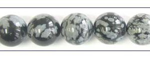 Snow flake Obsidian round beads 8mm wholesale gemstones