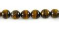 Yellow tiger eye round beads 8mm wholesale gemstones