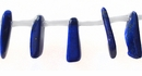 Lapis long chips side drill wholesale gemstones