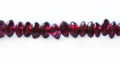 Garnet saucer beads 4mm wholesale gemstones