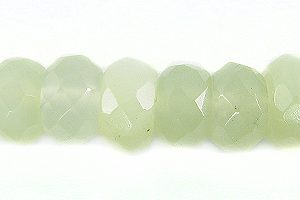 New Jade button faceted 5x8mm wholesale gemstones