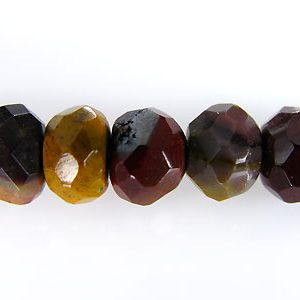 mookaite faceted rondelle 6x4 wholesale gemstones