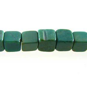 Green Turquoise Cube 4mm wholesale gemstone