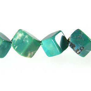 green turquoise cube/x hole wholesale gemstones