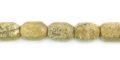 Picture jasper faceted drum 6x8mm long wholesale gemstones