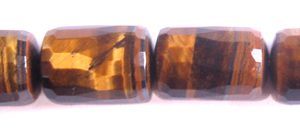 Tiger Eye faceted tube wholesale gemstones