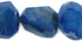 Agate Faceted Nugget 25-40mm dyed blue wholesale gemstones