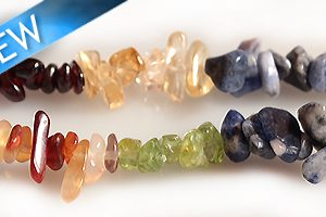 """Multicolor Dyed Chips 36"""" 6mm wholesale gemstones"""