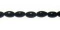 black agate rice beads 4x6mm wholesale gemstones