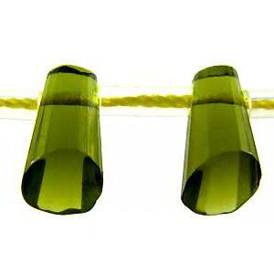 glass cone 6x9mm green wholesale gemstones