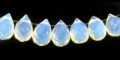 Syn. Moonstone briolette faceted wholesale gemstones