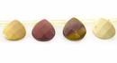 mookaite faceted briolette wholesale gemstones