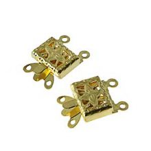 wholesale Snap Clasps Double Strand Gold
