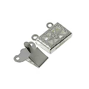 wholesale Snap Clasps 2 strand Silver