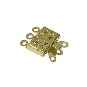 wholesale Snap Clasps 3 Strand Gold