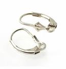 Sterling Silver Fleur De Lis Lever-back Ear-wires