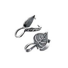 Sterling Silver Leaf Design Bail wholesale