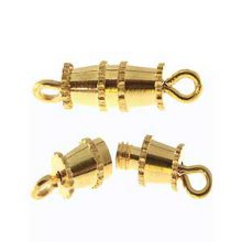 wholesale Barrel Clasps Gold Small
