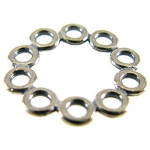 sterling silver Sterling Silver Round Multi Ring Links