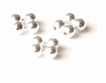 Quad Round Sterling Silver Beads