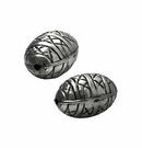 metal beads silver finish 13x21mm wholesale