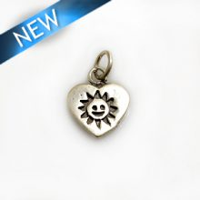 Thai Silver Heart/Sun Pendant 13x16mm wholesale