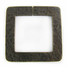 brass finish metal square 46mm hammered wholesale