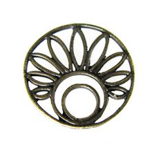 brass finish metal round 20mm flower wholesale