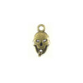 Metal casted skull design brass 24x13mm wholesale