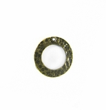Brass finish O ring 18mm hammered wholesale