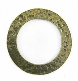 brass finish metal O ring 35mm hammered wholesale
