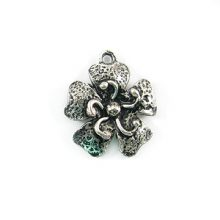 small flower silver finish wholesale
