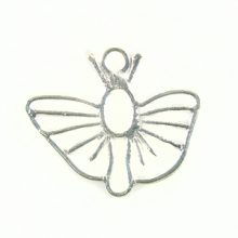 butterfly charm silver finish wholesale