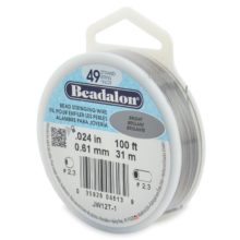 "wholesale Beadalon 49strd .024""bright 100"""