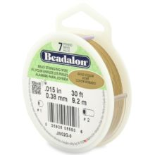 wholesale Beadalon 7 30' sp .38mm gold
