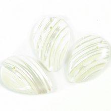 Silver mouth leaf shape wholesale beads