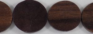 Wholesale Black ebony flat round beads