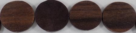 Wholesale Black ebony flat round beads