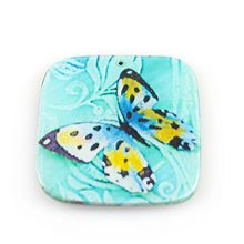 paper print wood flat square butterfly design