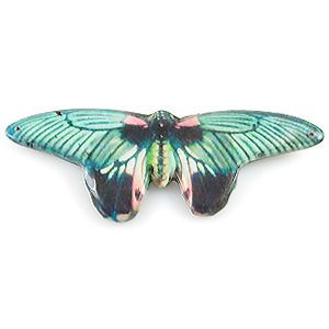 paper print wood pendant papilla butterfly