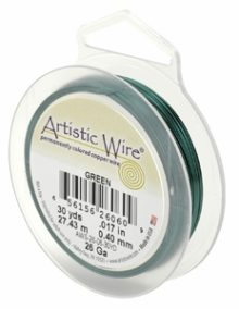 """wholesale """"Artistic Wire 22 Ga. Green 15yds"""""""